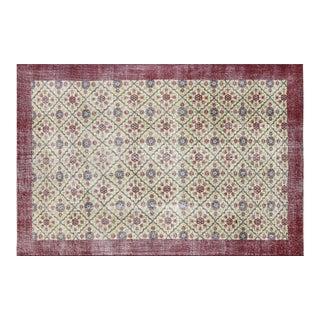 "Nalbandian - 1960s Turkish Mid-Century Modern Carpet - 6'10"" X 10'2"" For Sale"