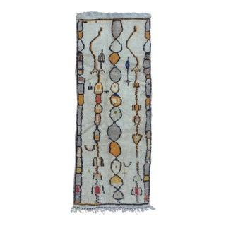 Vintage Moroccan Rug- 3′6″ × 9′2″ For Sale