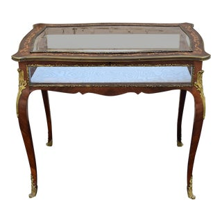 19th Century Victorian Specimen Table Vitrine For Sale