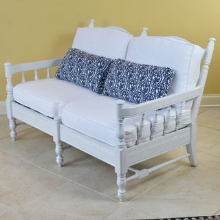 French Provincial Style 2 Person White Settee Preview