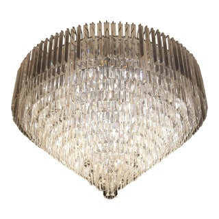 Modern Plafonnier Crystal Chandelier Low Ceiling Lamp Chrome Silver For Sale
