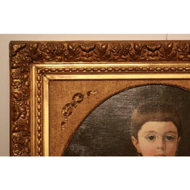 Early 19th Century New England Portrait Signed Roy Ulysso - Image 1 of 8