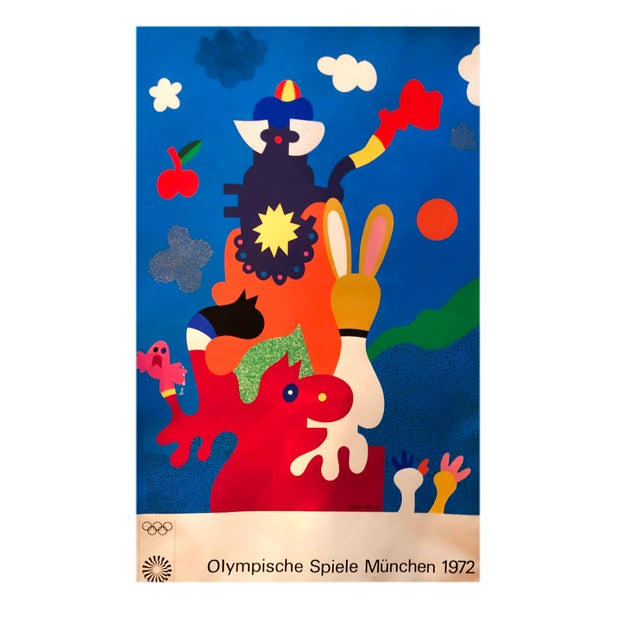 Abstract Last Call 1972 Munich Olympic Games Print For Sale - Image 3 of 3