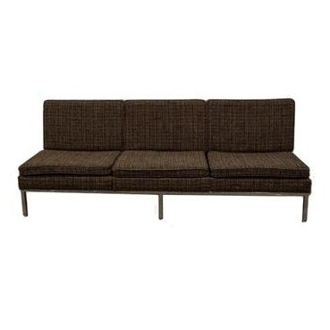 Helkion Mid Century Tweed Sofa - Image 1 of 9
