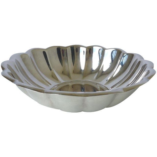 Reed & Barton Silverplated Fluted Bowl For Sale