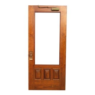 Mid Century Modern Custom Made Walnut Screen Door For Sale