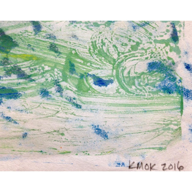 """Blue Mist"" Handmade Ink on Paper Monotype, 2016 - Image 3 of 4"