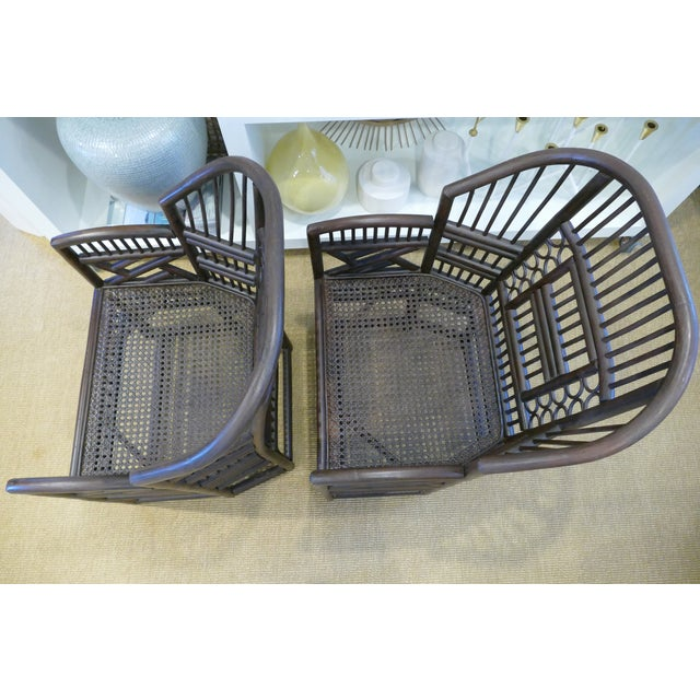 1960s Bamboo Cane Chairs - a Pair For Sale - Image 9 of 10