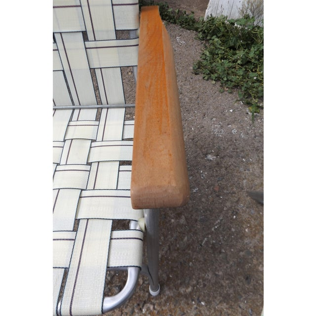 Vintage Aluminum Webbed Folding Lawn or Patio Chairs - A Pair - Image 8 of 9