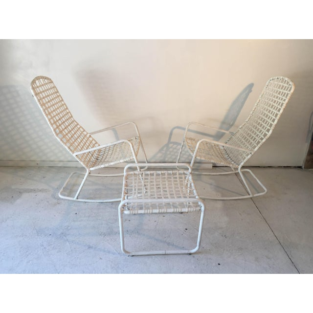 "Brown Jordan""LIDO"" Rocker (2) and Ottoman (1) White Ensemble Good Useable Condition. We deliver to most zip codes in NYC,..."