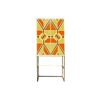 Tommi Parzinger, Custom Hand-Painted Bar Cabinet, Usa, 1960s For Sale