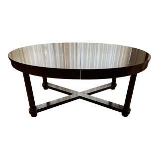 Round Baker Dining Table Barbara Barry Baker for Mahogany Ambassador Round or Oval Dining Table For Sale