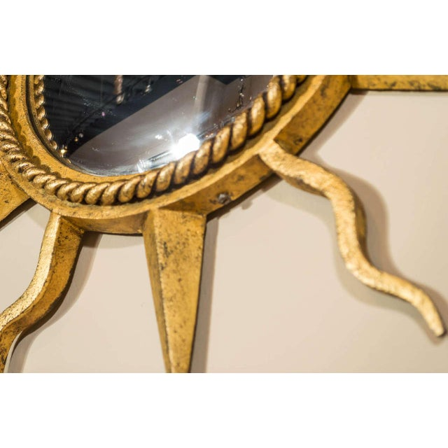 Gilbert Poillerat Gilbert Poillerat Convex Starburst Wall Mirror For Sale - Image 4 of 6