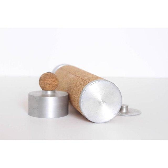 Silver Machine Age Art Deco Cocktail Shaker Spun Aluminum & Cork For Sale - Image 8 of 11