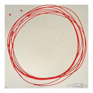 """Original Kayce Hughes Painting - """"Red Circles"""""""