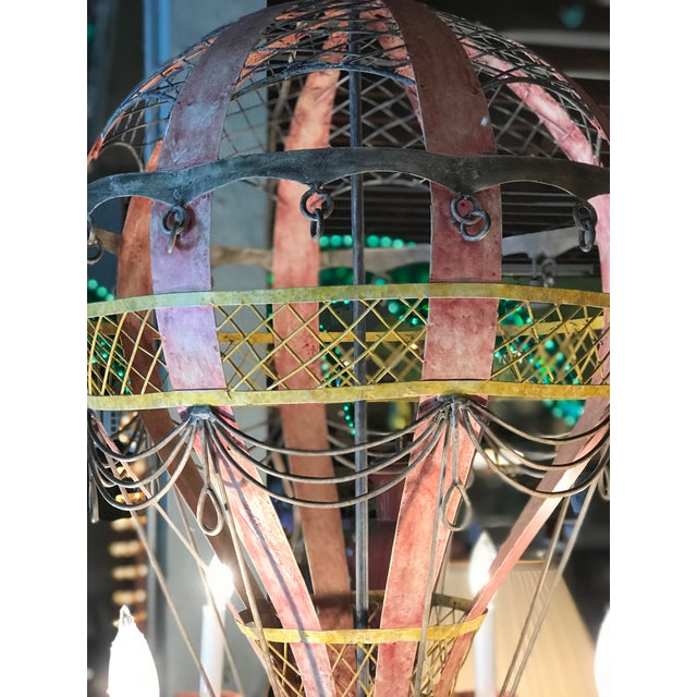 Coastal Regency Hot Air Balloon Chandelier For Sale - Image 6 of 12