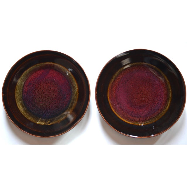 Abstract Eight Gorgeous Dinner Plates by Berkeley Studio Artist Gary Holt For Sale - Image 3 of 11