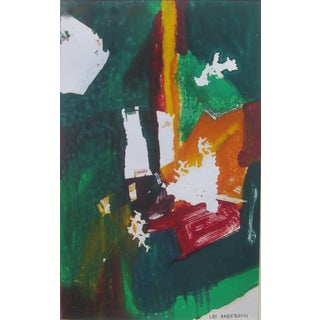 Abstract Style Monotype Print, Les Anderson For Sale