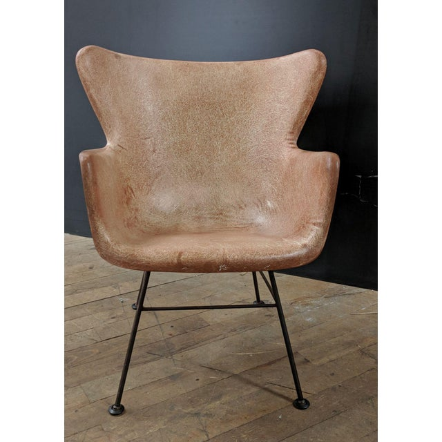 Lawrence Peabody for Selig Mid-Century Wingback Fiberglass Chair - Image 2 of 11