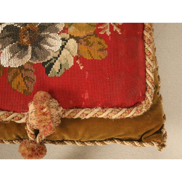 Circa 1900 Victorian English Beaded and Needlepoint Pillow For Sale - Image 9 of 11