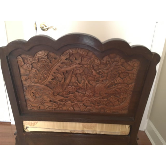 Chinoiserie Antique High Relief Carved Arm Chairs - A Pair For Sale - Image 3 of 10