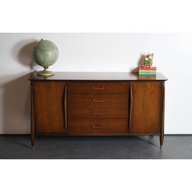 Huntley Mid-Century Modern Architectural Dresser For Sale - Image 9 of 11