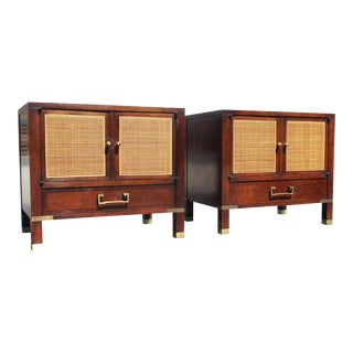 1960s Campaign Baker Milling Road Modern End Tables - a Pair For Sale