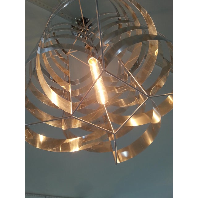 Max Sauze 1970s Max Sauze Aluminium Chandelier For Sale - Image 4 of 8