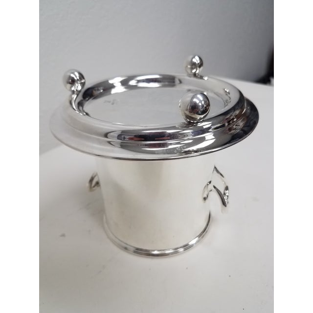 Antique English Silverplate Wine Holder For Sale - Image 9 of 10
