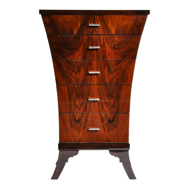 Art Deco Style Chest of Drawers with Curved Sides - Image 1 of 11