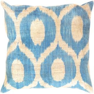 "Tukish Pasargad Silk Velvet Ikat Pillow - 20"" X 20"""