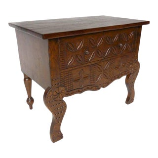 Custom Carved Console Table or Vanity For Sale