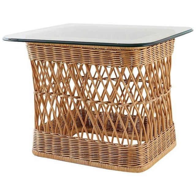 McGuire Organic Modern Rattan Wicker Coffee Cocktail Table For Sale - Image 13 of 13