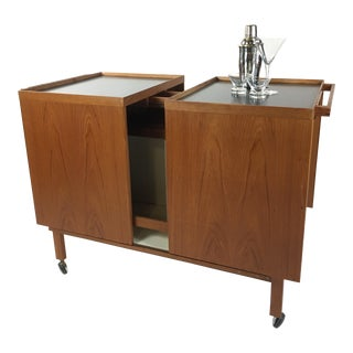 1960s Danish Modern Niels Erik Glasdam Jensen Bar Cart