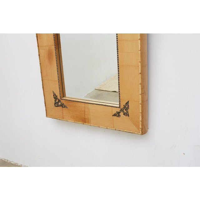 Pair of Bamboo Mirrors With Book Motif For Sale - Image 4 of 12