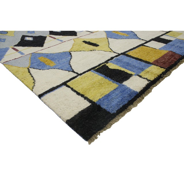 Contemporary Moroccan Style Rug with Modern Geometric Design - Image 2 of 6