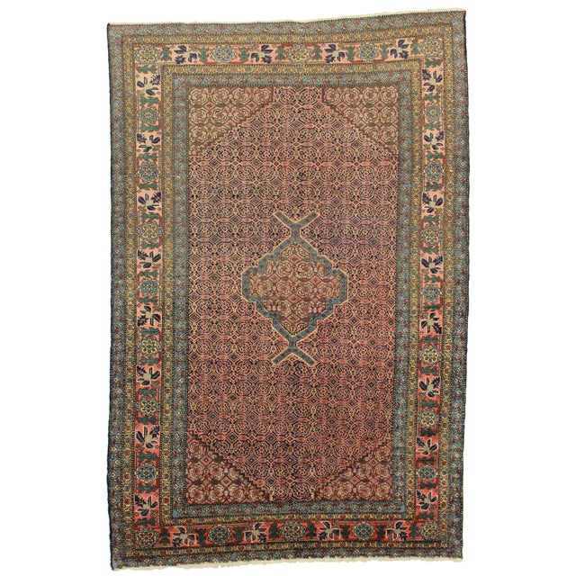 """RugsinDallas Vintage Hand Knotted Rug - 5'4"""" X 7'2"""" - Image 1 of 2"""