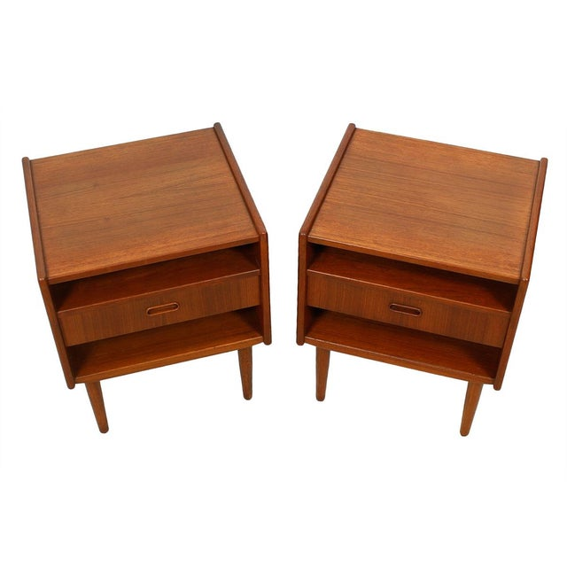 Teak Danish Modern End Tables by Falster - Pair - Image 1 of 6