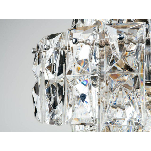 German Mid-Century Modern Faceted Crystal Chandelier by Kinkeldey For Sale In Miami - Image 6 of 11