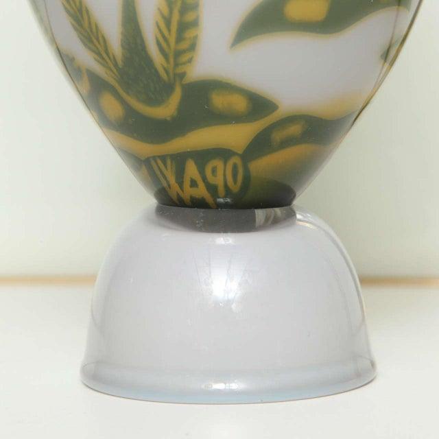 White Swedish Studio Glass Vase by Wilke Adolfsson For Sale - Image 8 of 9