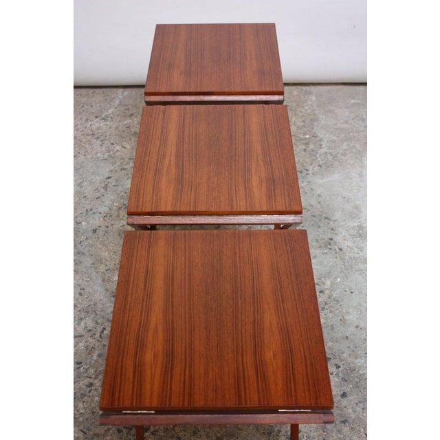 Nest of Three Teak Folding Tables by Illum Wikkelsø - Image 11 of 13