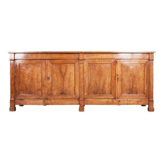 Large French Early 19th Century Restauration Walnut Enfilade For Sale