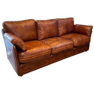 Mid-Century Modern Italian Leather Sofa, 1960s For Sale