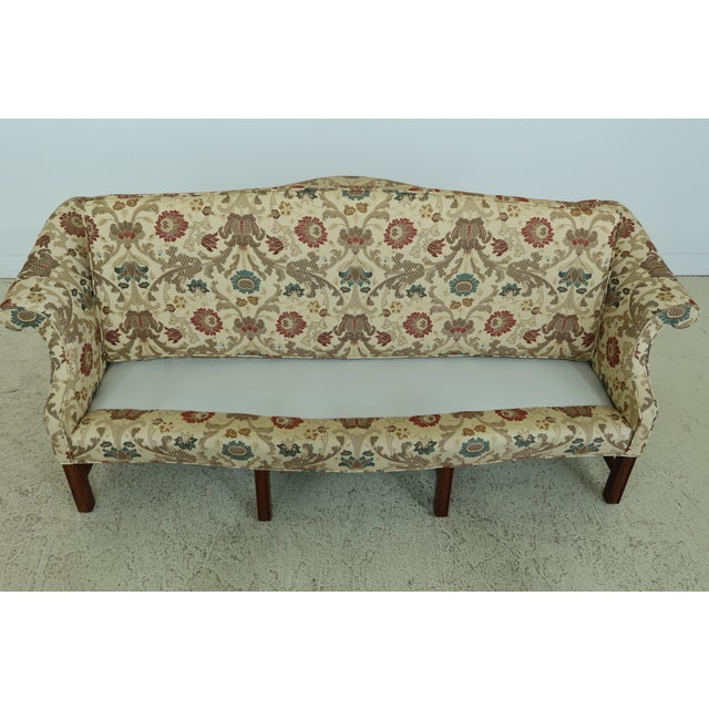 Chippendale Style Quality 8 Legged Mahogany Camelback Sofa For Sale In Philadelphia - Image 6 of 10