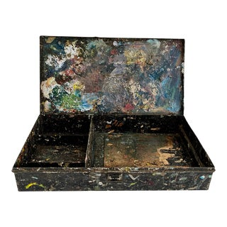 Vintage French Artist's Tool Box For Sale