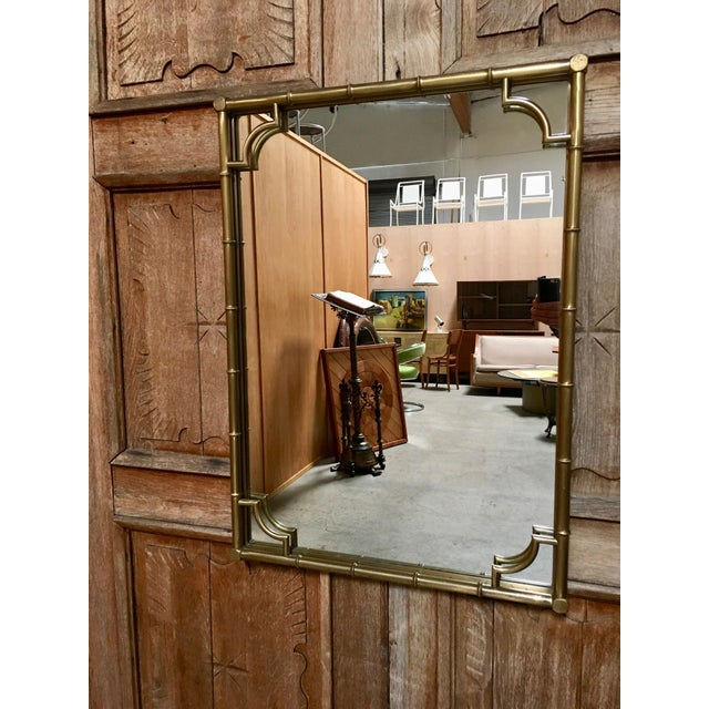 Italian Faux Bamboo Framed Mirror For Sale In Los Angeles - Image 6 of 11