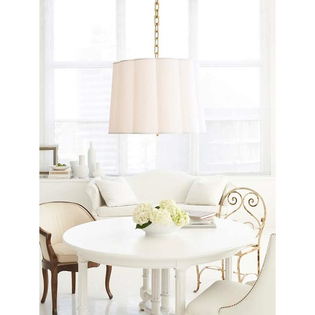 Barbara Barry Two Barbara Barry Simple Scallop Pendant Fixtures For Sale - Image 4 of 5