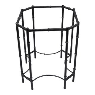 Octagonal Metal Faux Bamboo Side Table