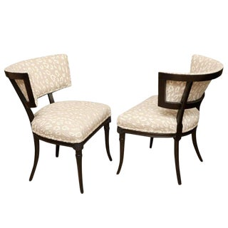 Elegant Pair of Sculptural Grosfeld House Side Chairs For Sale