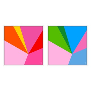 """Large """"Fractured Bright, Set of 2"""" Print by Wendy Concannon, 50"""" X 25"""" For Sale"""